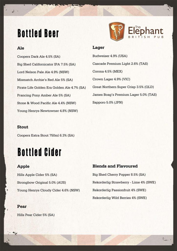 Bottle Beers & Ciders
